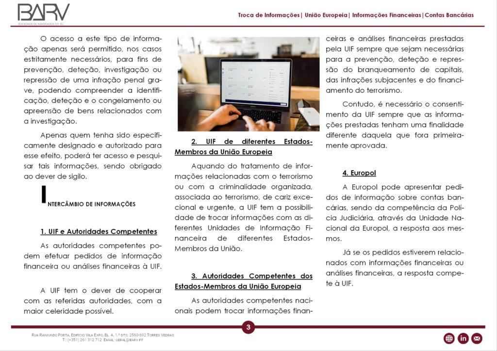 Normas de utilização de informações financeiras e policiais (1ª parte).